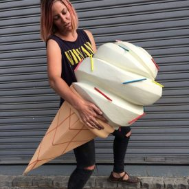 Fabricated giant ice cream - Leanie van der Vyver