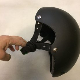 Fabricated bicycle helmet