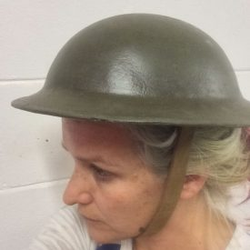 Fabricated war helmet