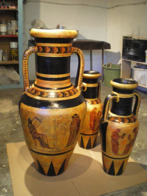 BBC History of the world - fabricated Props - grecian urns