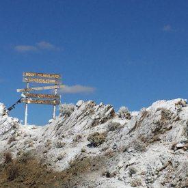 Fabricated kilimanjaro signage