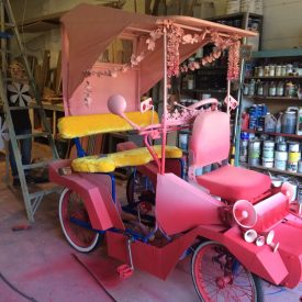 Fabricated Pink Cart